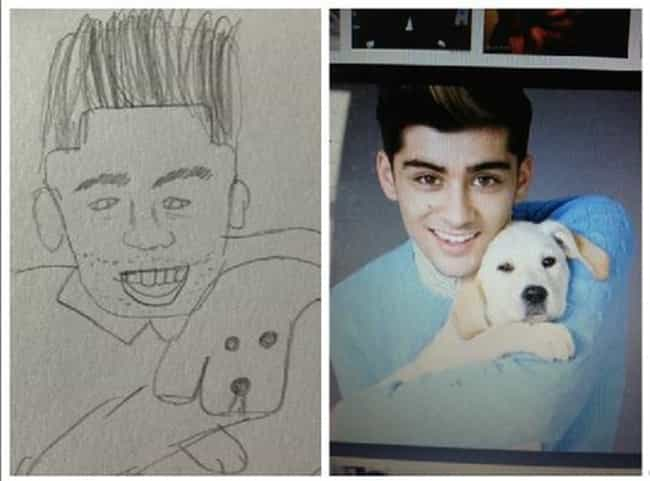 Zayn Malik of One Direct... is listed (or ranked) 6 on the list The Most Awful Pieces of Fan Art Ever Made