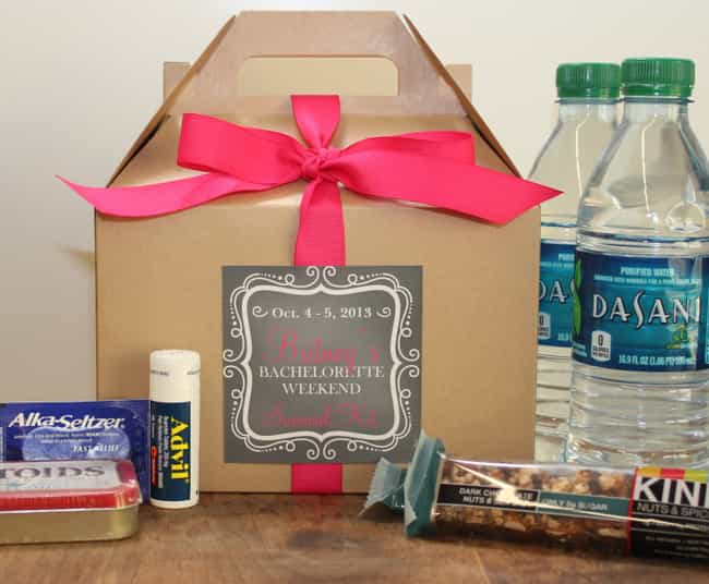 Make Survival Kits is listed (or ranked) 4 on the list Bachelorette Party Ideas For An Unforgettable Hen Night