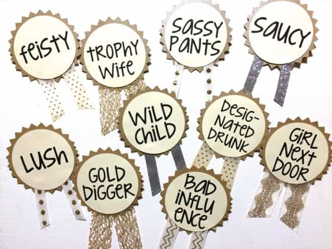 Make Name Tags for Every... is listed (or ranked) 3 on the list Bachelorette Party Ideas For An Unforgettable Hen Night