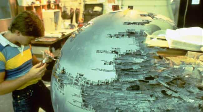 The Construction of the Death ... is listed (or ranked) 2 on the list Behind the Scenes Photos of Star Wars Vehicle and Ships
