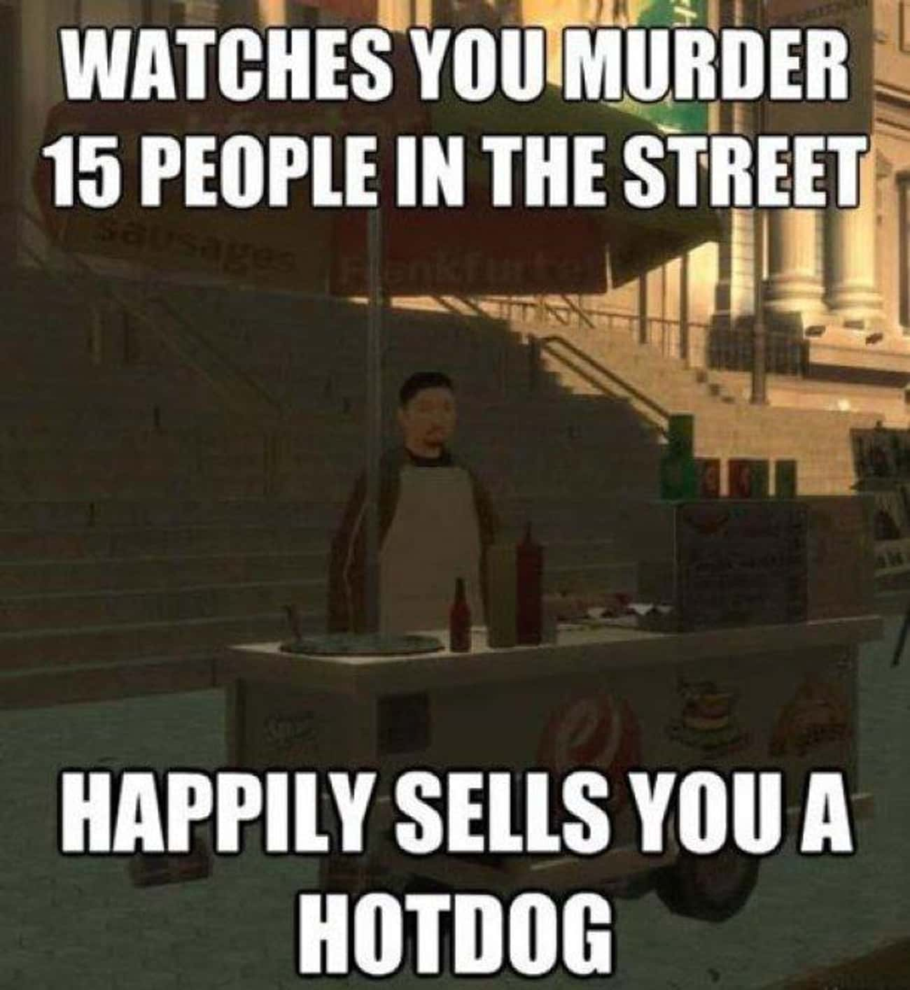 Hot Dog Logic is listed (or ranked) 2 on the list The 20 Funniest Examples of Grand Theft Auto Logic