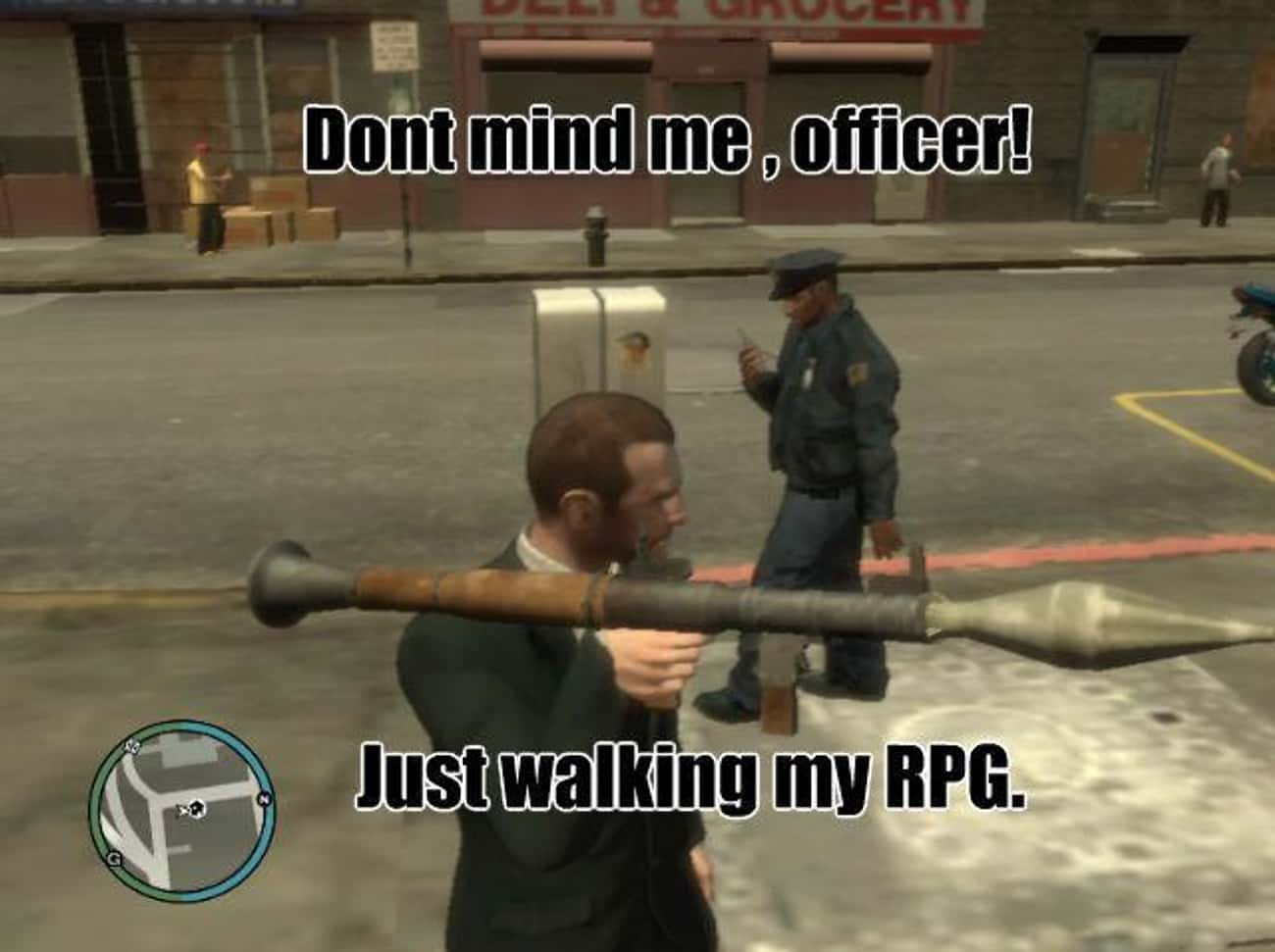 Gun Logic is listed (or ranked) 1 on the list The 20 Funniest Examples of Grand Theft Auto Logic