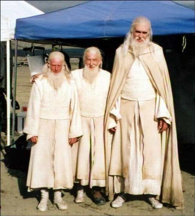 Ian McKellen And Gandalf Stand... is listed (or ranked) 4 on the list Behind-the-Scenes Photos from The Lord of the Rings Set