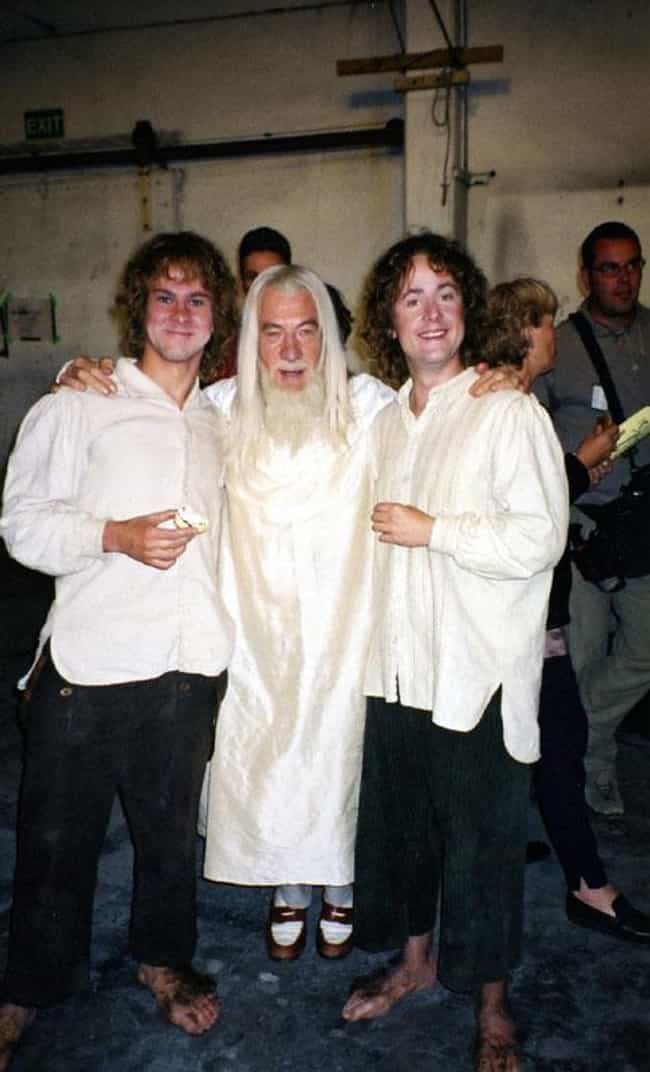 Dominic Monaghan, Ian Mc... is listed (or ranked) 4 on the list Behind-the-Scenes Photos from The Lord of the Rings Set