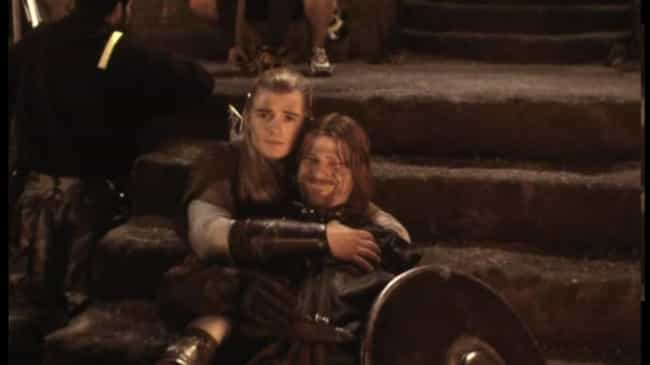 Orlando Bloom And Sean B... is listed (or ranked) 1 on the list Behind-the-Scenes Photos from The Lord of the Rings Set