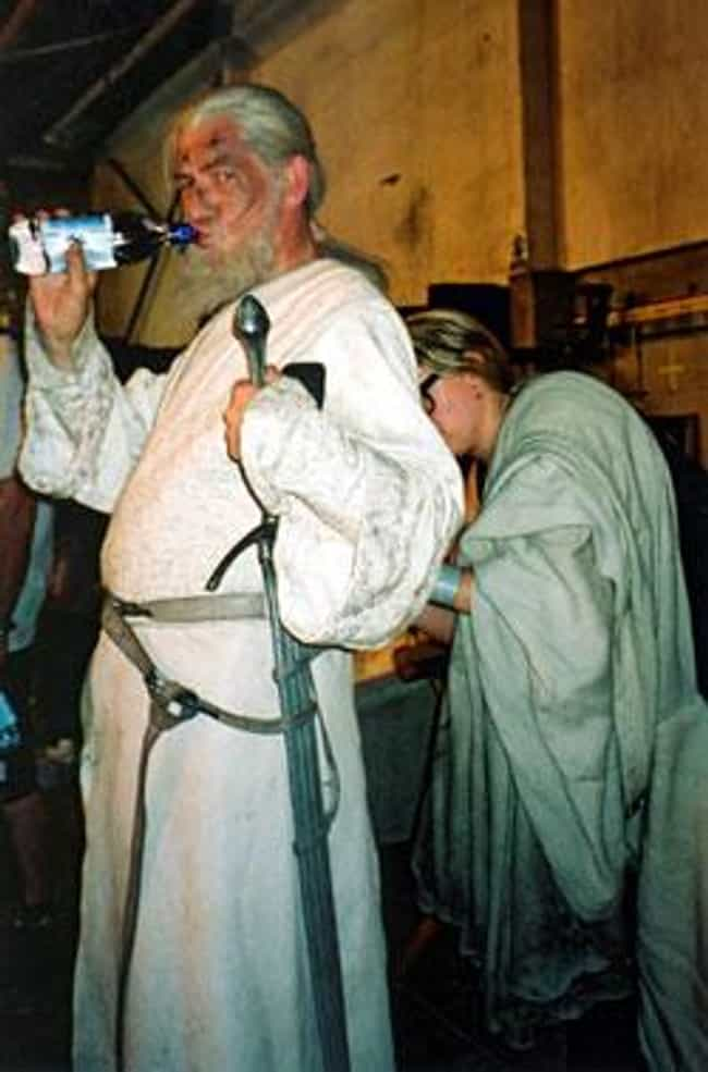 Ian McKellen Taking A Water Br... is listed (or ranked) 1 on the list Behind-the-Scenes Photos from The Lord of the Rings Set