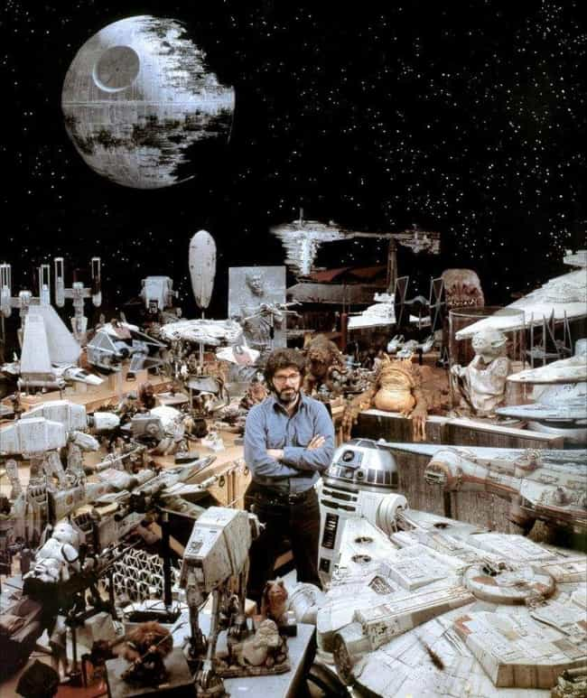 George Lucas Among His Many Cr... is listed (or ranked) 8 on the list Behind the Scenes Photos of Star Wars Vehicle and Ships