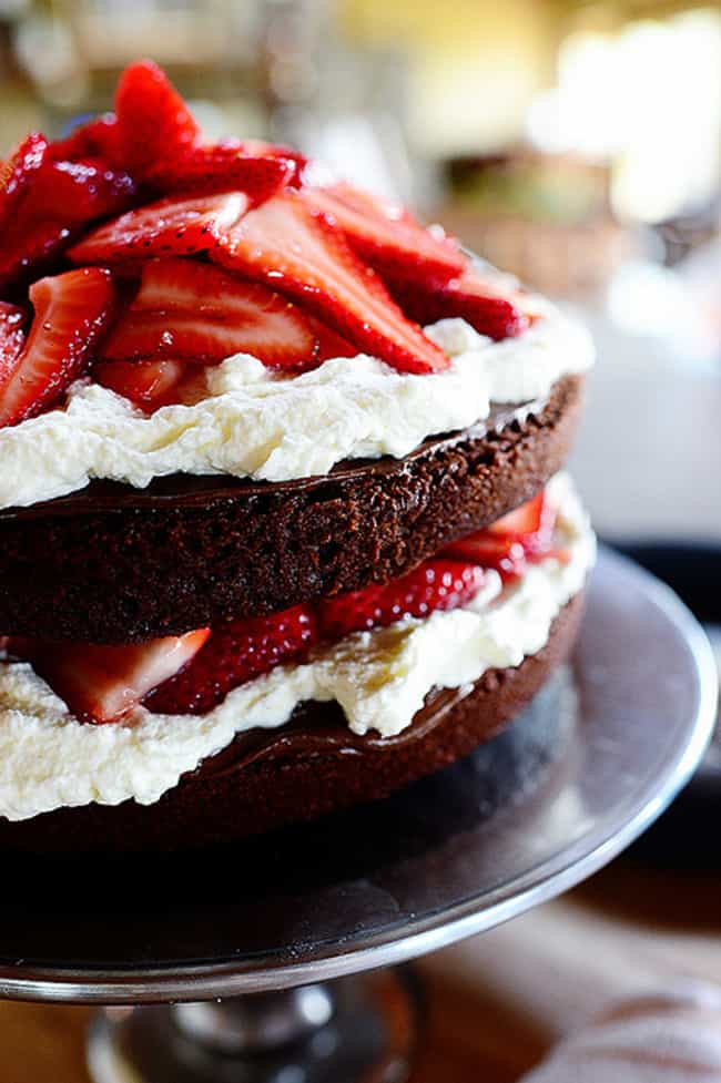 Chocolate Strawberry Nutella C... is listed (or ranked) 3 on the list The 30 Best Strawberry Cake Recipes on the Internet