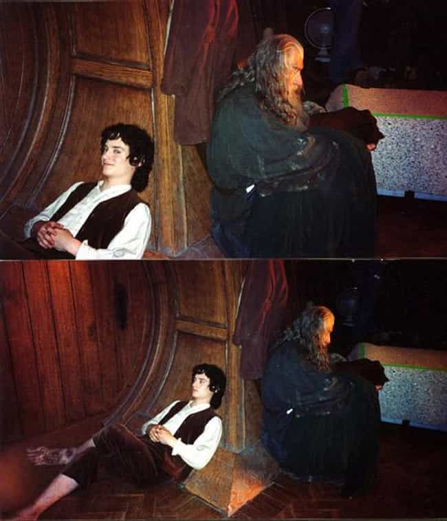Elijah Wood And Ian McKellen R... is listed (or ranked) 1 on the list Behind-the-Scenes Photos from The Lord of the Rings Set