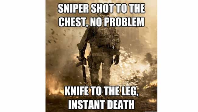 Yes, A Knife is Always Deadly is listed (or ranked) 1 on the list The Best Call of Duty Memes