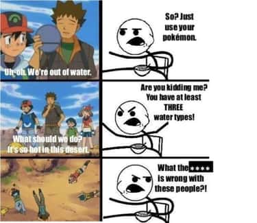 Water way to go is listed (or ranked) 1 on the list The Best Pokemon Memes of All Time