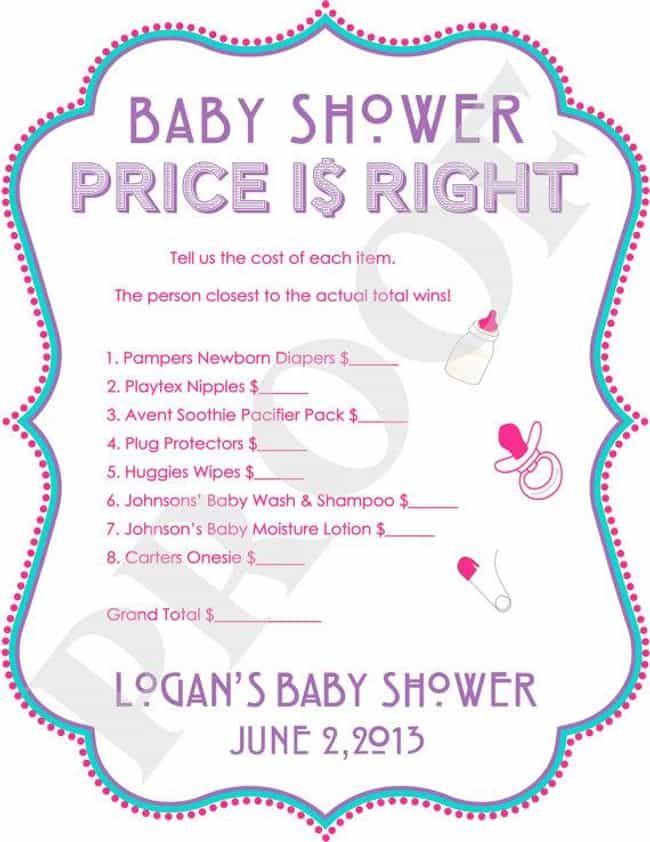 Play Baby Shower Price Is Righ... is listed (or ranked) 4 on the list Adorable Baby Shower Ideas for the Mom-to-Be