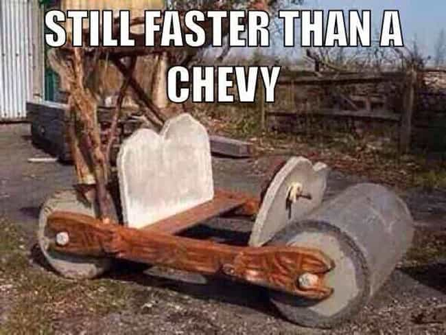 Yabba-Dabba Boo is listed (or ranked) 3 on the list The Best Chevy Memes of All Time