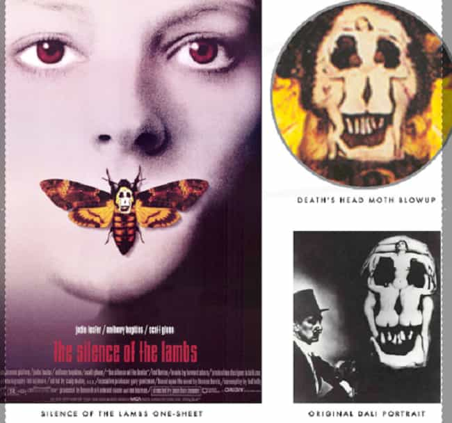 The Moth Head on the Silence o... is listed (or ranked) 1 on the list Hidden Easter Eggs from Your Favorite 90s Movies