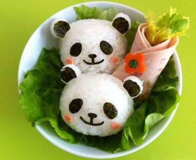 Rosy Cheeked Panda Sushi is listed (or ranked) 1 on the list The Most Awesome Sushi Art That You'll See All Day
