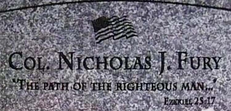 Nick Fury's Headstone Is A Reference To 'Pulp Fiction'