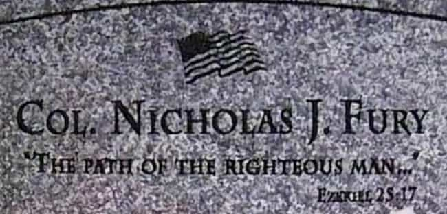 Nick Fury's Headstone Is A Ref... is listed (or ranked) 2 on the list Easter Eggs You Didn't Notice in Quentin Tarantino Films