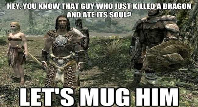 A bunch of Muggles is listed (or ranked) 1 on the list The Best Skyrim Memes on the Internet