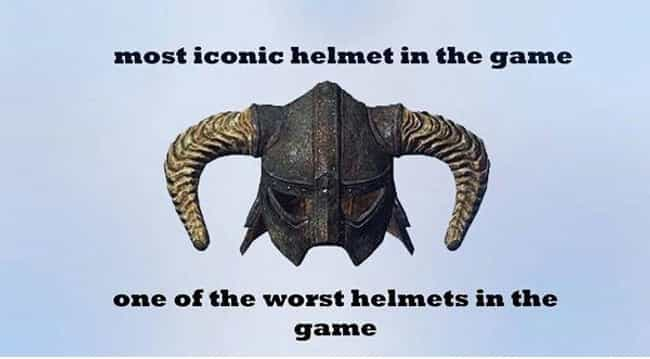 Kevlar helmet needed is listed (or ranked) 2 on the list The Best Skyrim Memes on the Internet