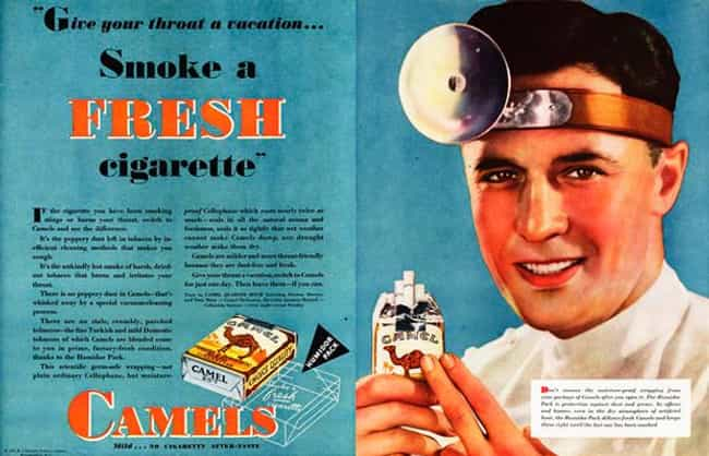Ask Your Dentist... for ... is listed (or ranked) 3 on the list Vintage Smoking Ads They'd Never Get Away with These Days