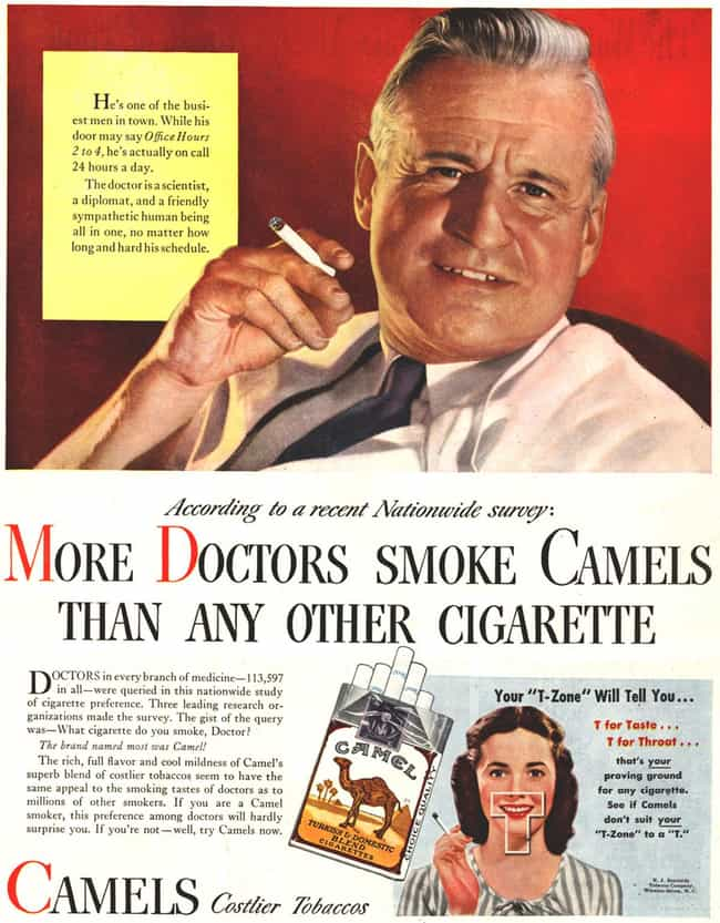 Your Doctor Smokes? Is i... is listed (or ranked) 4 on the list Vintage Smoking Ads They'd Never Get Away with These Days