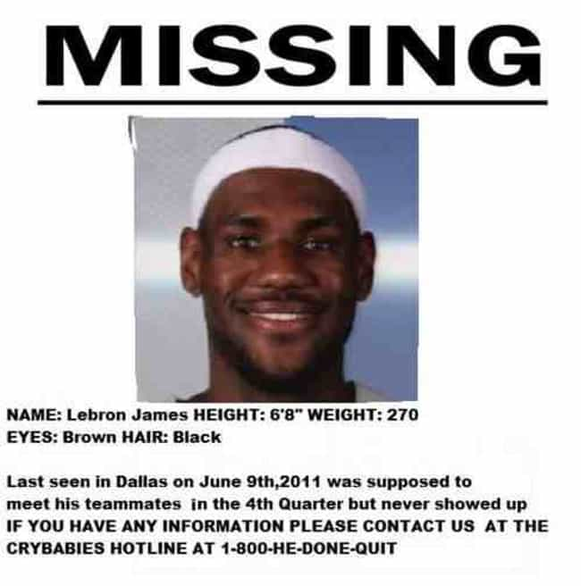 Made it easier to find him for... is listed (or ranked) 3 on the list The Best Lebron James Memes on the Internet