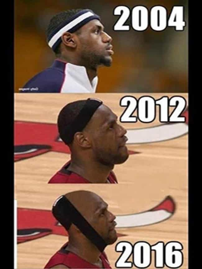 Does he suffer from HIV (hair ... is listed (or ranked) 1 on the list The Best Lebron James Memes on the Internet