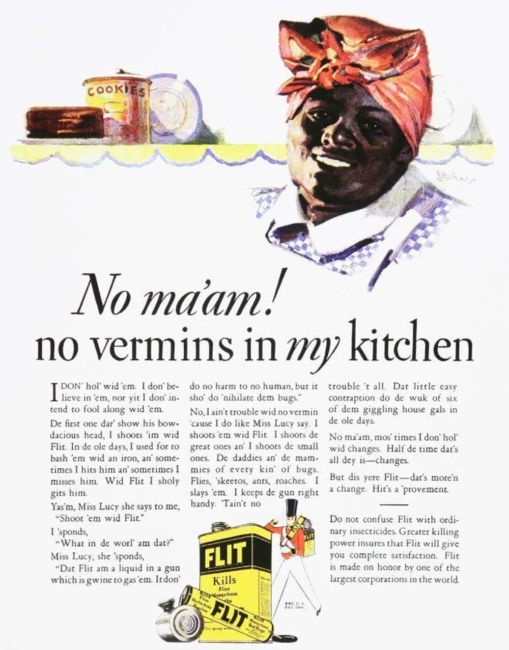Yes Ma'am! The Racist Ghost of is listed (or ranked) 31 on the list Vintage Ads That Are Horribly Racist