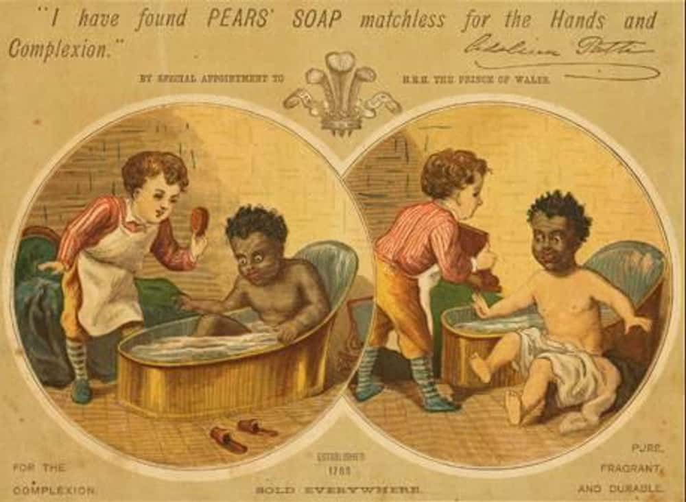 Little Children in Blackface:  is listed (or ranked) 6 on the list Vintage Ads That Are Horribly Racist