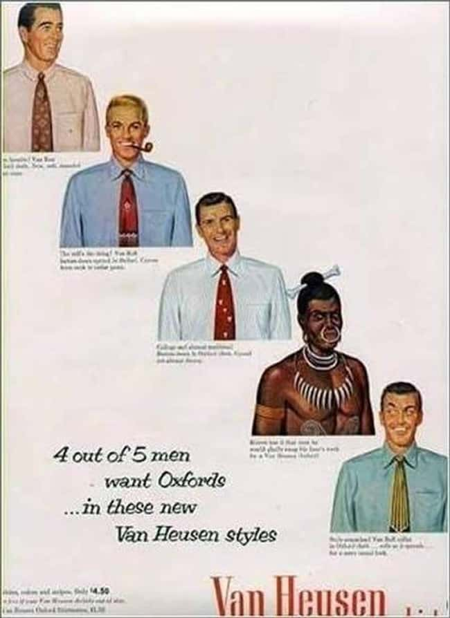4 Out of 5 Racists Need to Fee is listed (or ranked) 7 on the list Vintage Ads That Are Horribly Racist