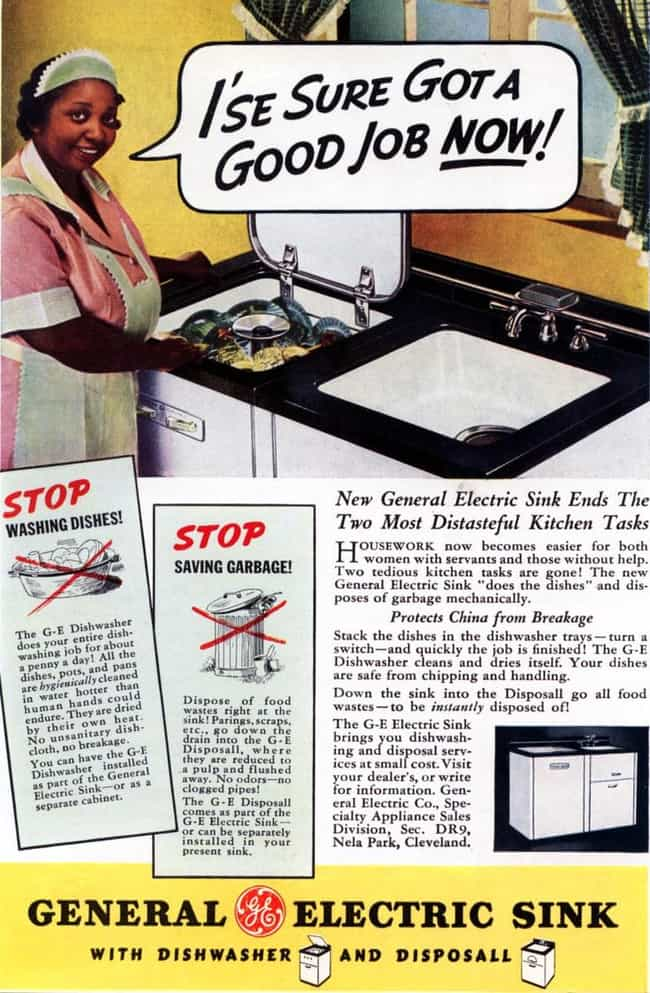 General Electric is listed (or ranked) 7 on the list Vintage Ads That Are Horribly Racist