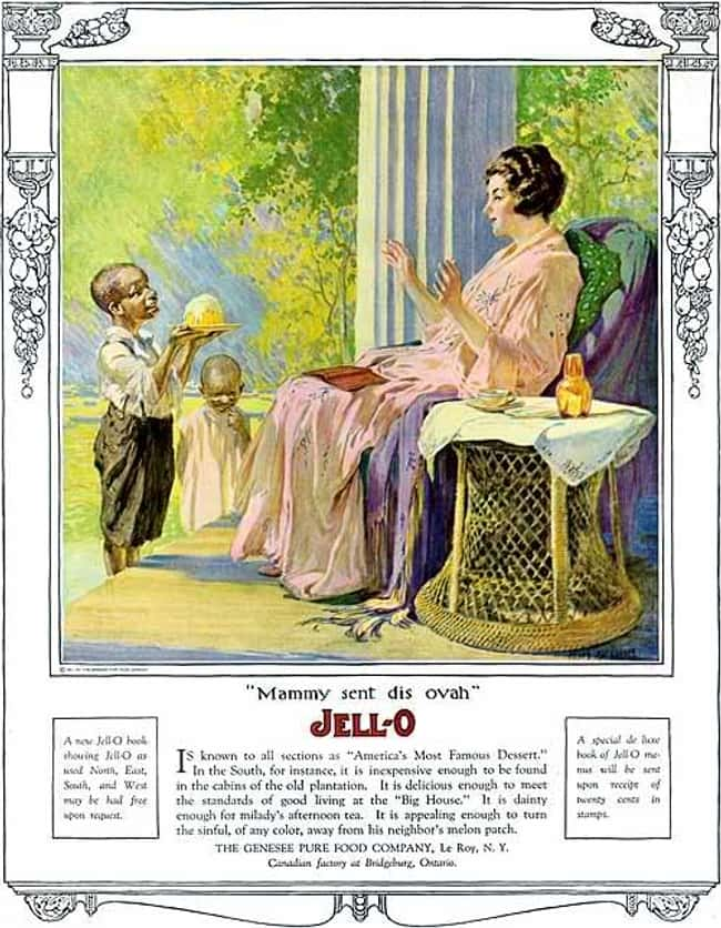 Jell-O, Putting the Jiggle Bac is listed (or ranked) 14 on the list Vintage Ads That Are Horribly Racist