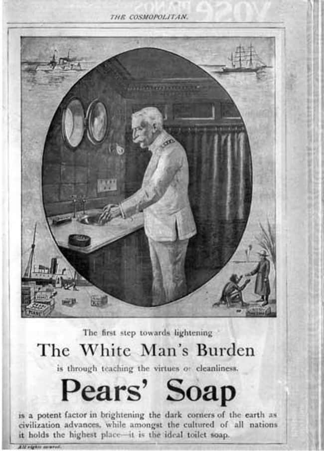 Oh, Yes, the Poor White Man is listed (or ranked) 16 on the list Vintage Ads That Are Horribly Racist