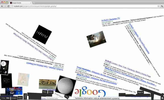 Google easter eggs list of funny hidden google secrets and prank the google gravity experiment is listed or ranked 3 on the publicscrutiny Choice Image