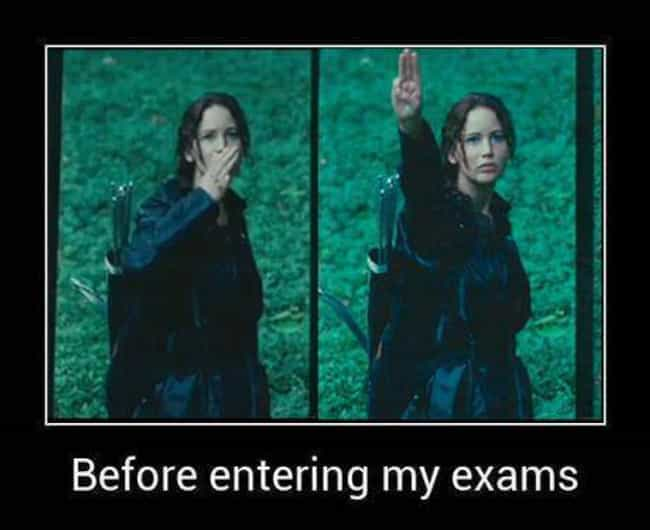 Yes, school may be just ... is listed (or ranked) 2 on the list The Best Hunger Games Memes