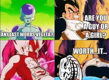 Vegeta trolling like a boss is listed (or ranked) 2 on the list The Best Dragon Ball Z Memes of All Time
