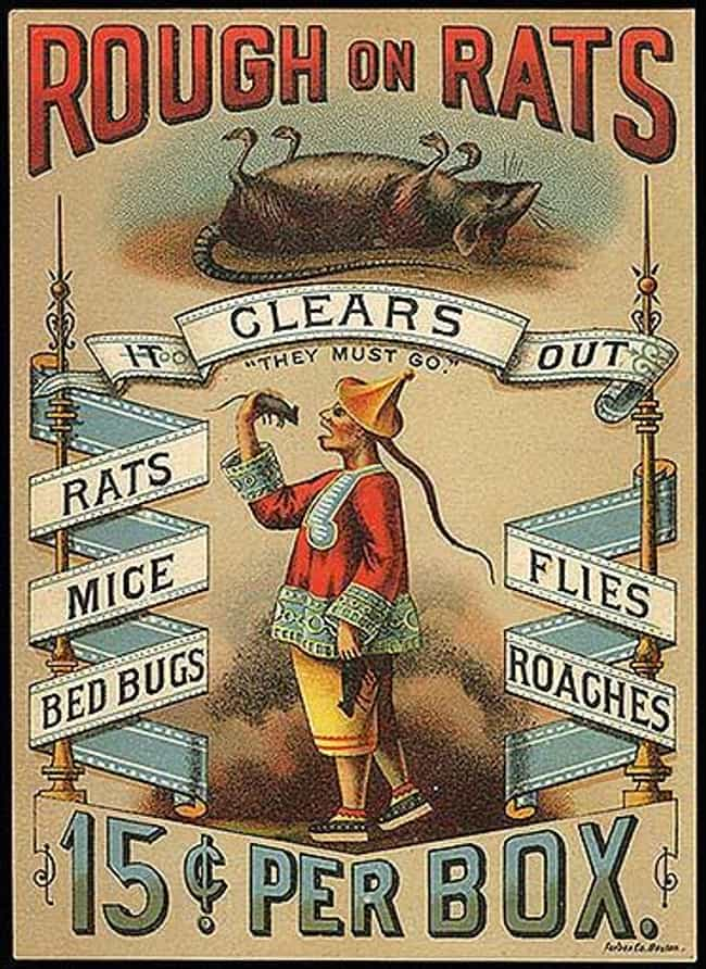 Rough On Rats is listed (or ranked) 12 on the list Vintage Ads That Are Horribly Racist