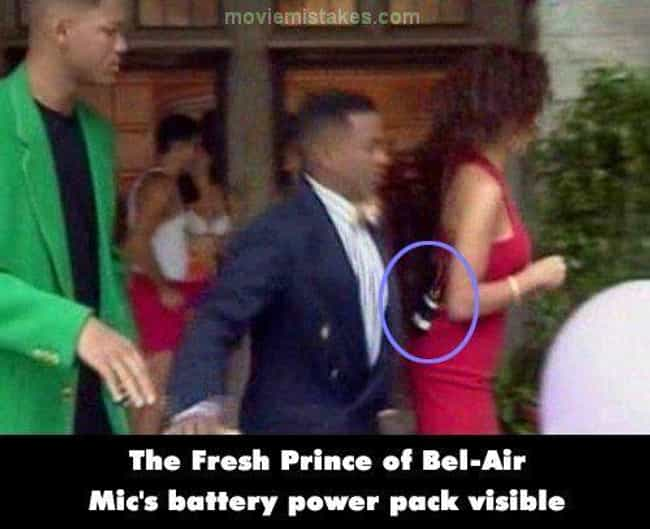 The Visible Mic Pack On ... is listed (or ranked) 2 on the list Mistakes in '90s Sitcoms That You Never Noticed Until Now