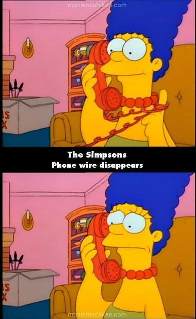 Marge Goes Cordless On '... is listed (or ranked) 3 on the list Mistakes in '90s Sitcoms That You Never Noticed Until Now