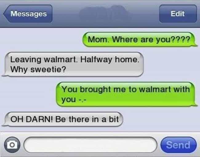 This Mom Realizing Somet... is listed (or ranked) 1 on the list Awkward Texts from Your Mom