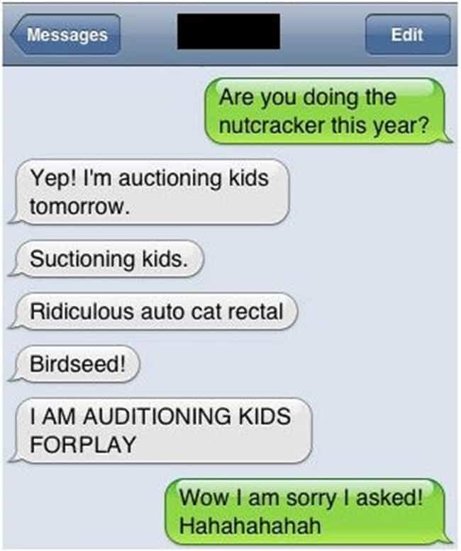 This One's Enough To Land You ... is listed (or ranked) 7 on the list 41 Hilarious Autocorrect Fails