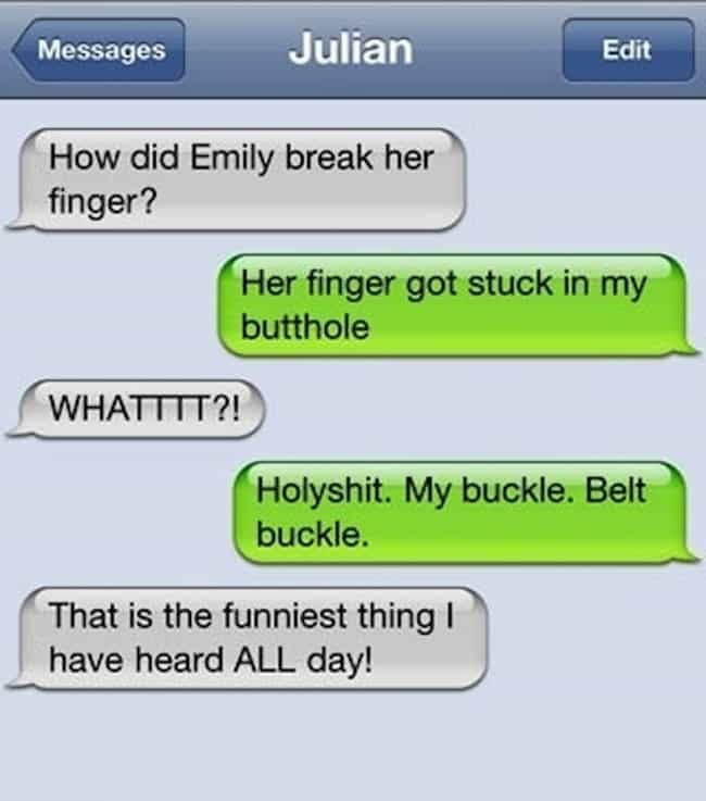 Worst Way Ever To Break A Fing... is listed (or ranked) 3 on the list 41 Hilarious Autocorrect Fails