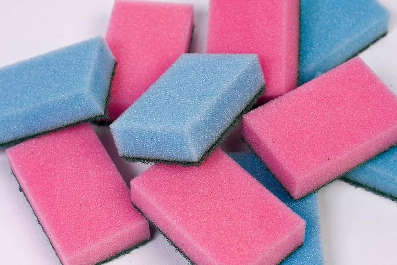 Kitchen Sponges - 250,000x Dir is listed (or ranked) 3 on the list 20 Things That Are Dirtier Than a Toilet Seat