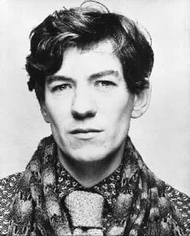 Young Ian McKellen in Patterned Shirt with Scarf and Tie