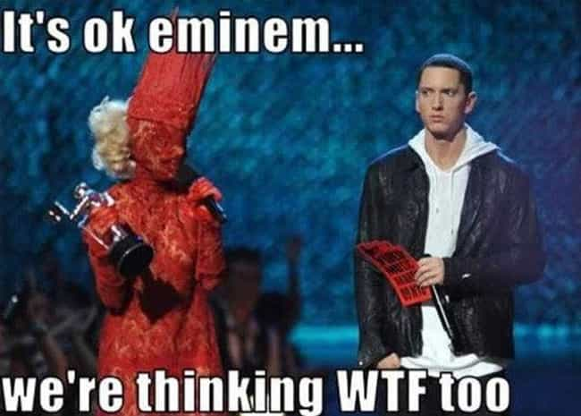 Oh my, is that even human? is listed (or ranked) 1 on the list The Best Eminem Memes of All Time