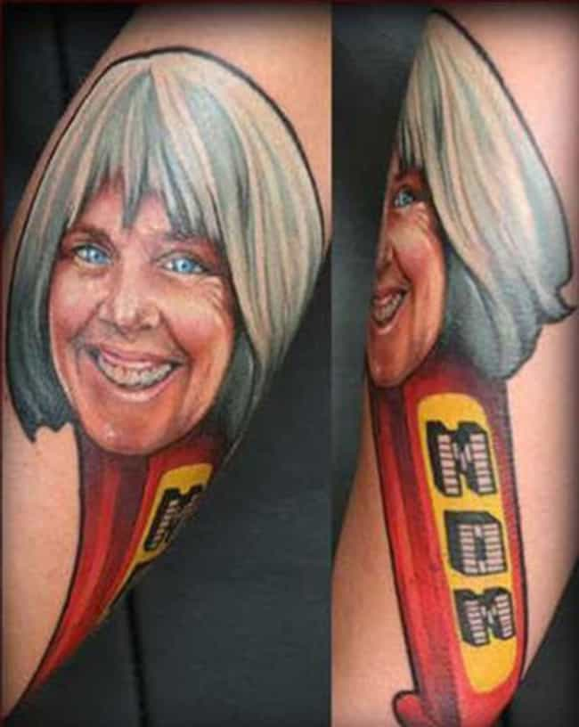 Mom Was Proud of Her Pez... is listed (or ranked) 3 on the list The Worst Mom Tattoos