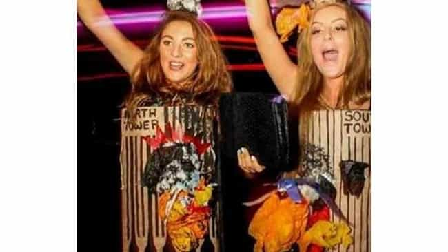 The Twin Towers is listed (or ranked) 2 on the list Offensive Halloween Costumes That May Have Crossed The Line
