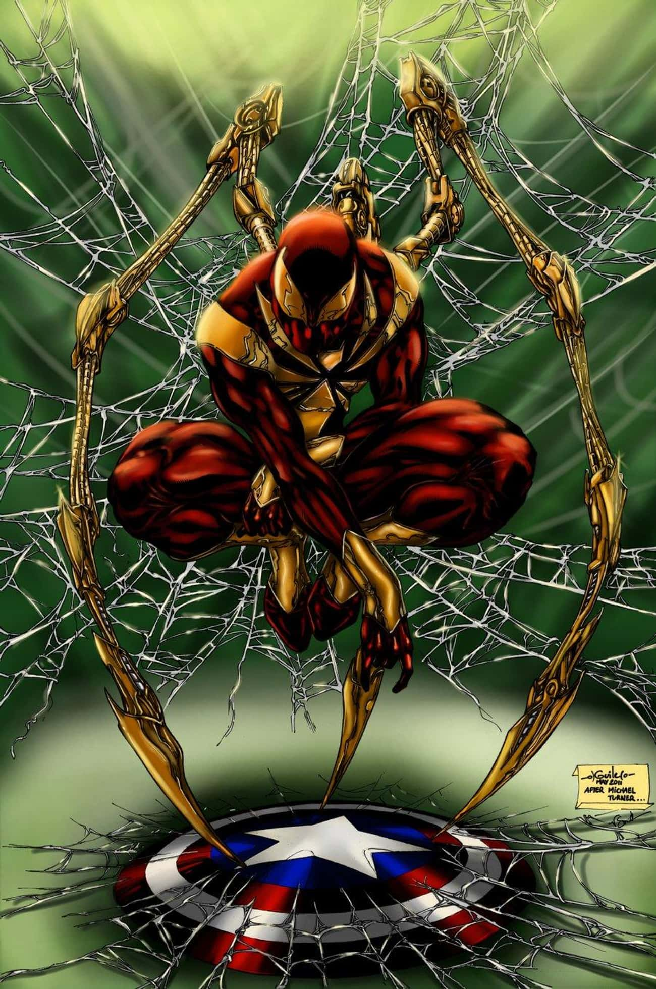 Iron Spider-Man is listed (or ranked) 4 on the list Who's the Best Spider-Man in the Spider-Verse?