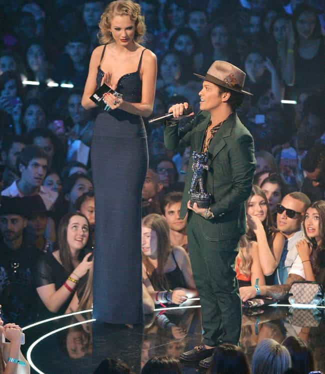 Taylor and Bruno Mars Confirmi... is listed (or ranked) 1 on the list Times Taylor Swift Was So Tall