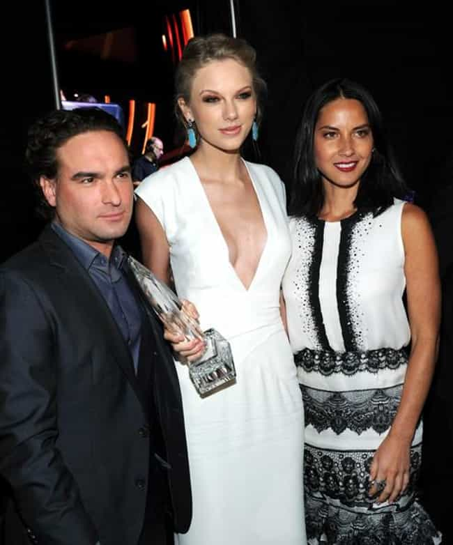 Johnny Galecki Looking like He Just Realized How Tall Taylor Swift Really Is